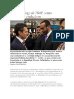 28-08-2013 Diario Matutino Cambio de Puebla - Ambrogi Llega Al CNSP Como Integrante Ciudadano