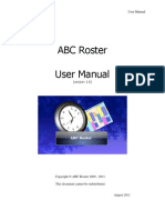 ABC Roster v1.6 User Manual