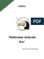 Reformas Al Articulo 3ro