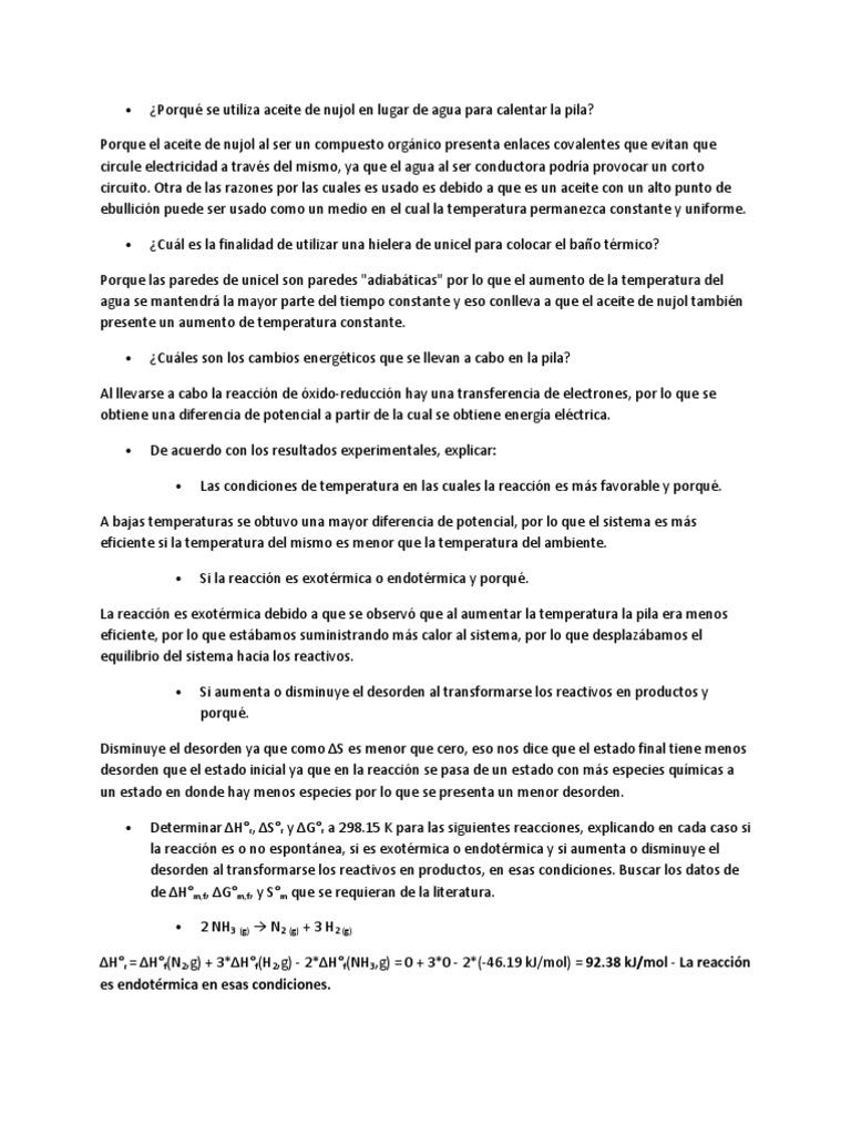 c675f699 es endotérmica en esas condiciones