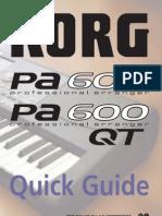 Pa600 Quick Guide v100 (English)