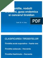 Tiroidite Nodulii Tiroidieni Gusa Endemica Si Cancerul Tiroidian