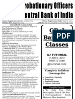Central Bank of India CBoI Probationary Officer Application Form