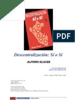 Klauer, Alfonso - 5 Descentralizacion Si o Si-ya