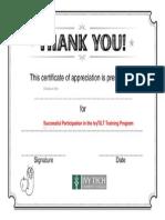 Certificate for IvyTILT