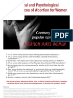 Abortion Hurts Women Poster