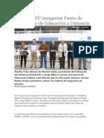 28-08-2013 Diario Matutino Cambio de Puebla - SEDIF y SEP inauguran Punto de Autoacceso de Educación a Distancia