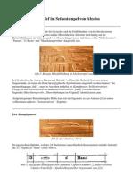 Das mysteriöse Relief im Sethostempel von Abydos