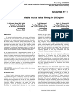 Modeling of Variable Intake Valve Timing in SI Engine