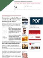 La Justicia condenó a Menem a siete años de prisión por la venta ilegal de armas