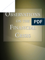 Observations on the Financial Crisis, by Keith Hennessey and Edward P. Lazear