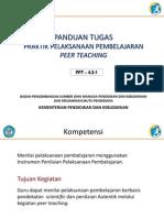 4.2.1 Panduan Tugas Praktik Pembelajaran Melalui Peer Teaching