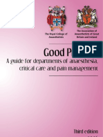 A Guide for Departments of Anaesthesia, Critical Care and Pain Management