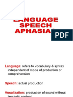 Language, Speech & Aphasias