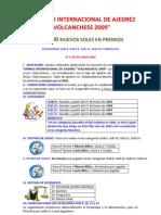 IV Torneo Internacional de Ajedrez VolCan Chess 2009_bases Oficiales