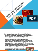 FORTIFICACIÓN Y RESTITUCIÓN DE VITAMINAS EN LOS ALIMENTOS