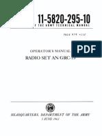 TM 11 5820 295 10 AN/GRC19 Militay Radio