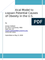 Statistical Analysis of Potential Causes of Obesity in the U.S.