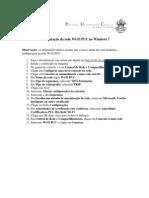 Configuração da rede Wi-Fi PUC no Windows 7 - WPA