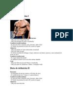 Dieta de definición I