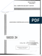 NCSC-TG-028 Assessing Controlled Access Protection