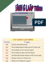Các lệnh lập trình CNC