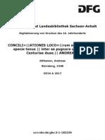MS  DESIDERABILIA SUPER AURUM et lapidem Cap 16 (in Conciliationes Locorum Scripturae)