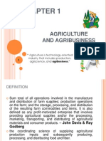 AGRICULTURE AND AGRI-BUSINESS