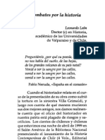 Leonardo León, Los combates por la historia