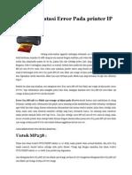 Cara Mengatasi Error Pada Printer IP 2770