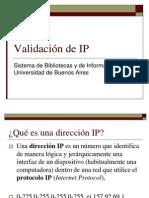 Validacion de IP