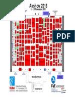 Dubai Airshow 2013 - Hall Plan
