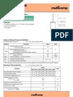 Diode IN5408 data sheet