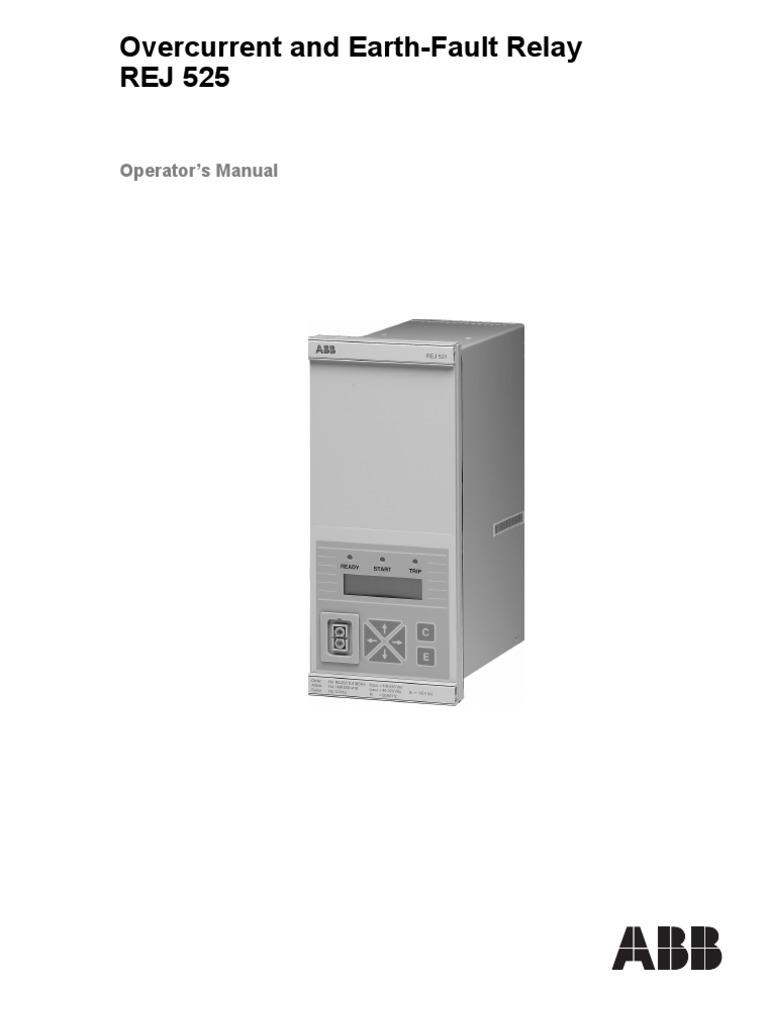 Rej525 Oper 752137 Enepdf Relay Transformer Abb Overcurrent