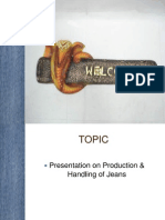 Production Process and Material Handling of Jeans.