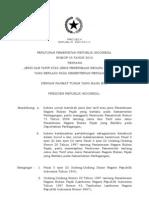 PP No 45 Thn 2012 - Jenis n Tarif Atas Jenis PNBP Pada Kemendag