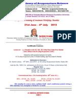 Training Course Mumbai June 2013 & Correspondence Courses