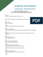 DICTIONNAIRE DU MULTIMEDIA Informatique et Télécoms