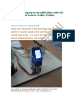 FINGER PRINT PROJECT ABSTRACT-Biometric Fingerprint Identification With PIC Based LockerSecurity System