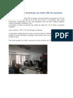 Bureau à louer - Rue de la Tour - Lausanne