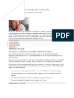 Depression in Older Adults and the Elderly