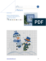 Snowman Picture Cross stitch pattern