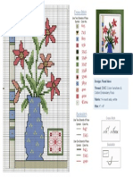 Vase Cross Stitch Pattern