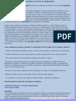 Marco Legal de la Educación en Casa en Argentina