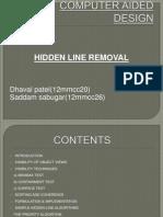 Hidden Line Removal