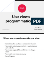 Use Views Programmatically