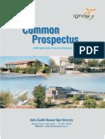 01-Common Prospectus (IGNOU)