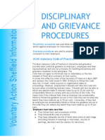 Disciplinary Grievance Procedures