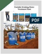 Portable Drinking Water Treatment Plant Handbook