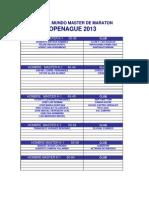 Equipo Nacional Master. Copenague 2013 (1)